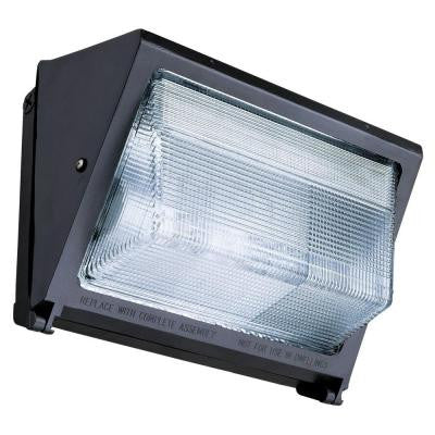 Metal Halide Small Bronze Wall Pack with Glass Lens with Multi-Tap Ballast