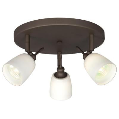 Negron 3-Light Oil Rubbed Bronze Track Head Spotlight with Directional Heads