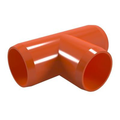 1-1/4 in. Furniture Grade PVC Tee in Orange (4-Pack)