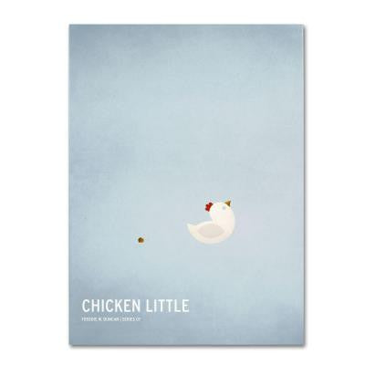 16 in. x 24 in. Chicken Little Canvas Art