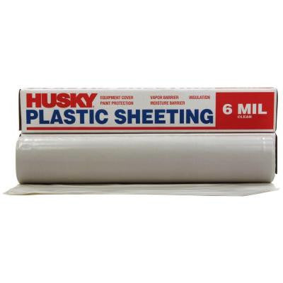 100 ft. x 9 ft. Clear 6 mil Plastic Sheeting