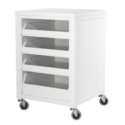 36 in. H Picket Fence Cart With Pull Out Trays