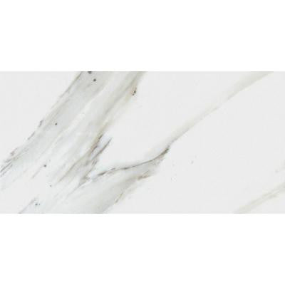 Calacatta Ivory 12 in. x 24 in. Glazed Polished Porcelain Floor and Wall Tile (16 sq. ft. / case)