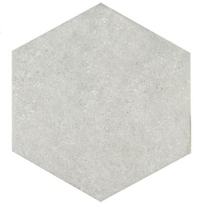 Traffic Hex Silver 8-5/8 in. x 9-7/8 in. Porcelain Floor and Wall Tile (11.19 sq. ft. / case)