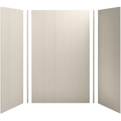 Choreograph 60in. X 36 in. x 96 in. 5-Piece Shower Wall Surround in Sandbar with Cord Texture for 96 in. Showers
