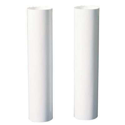 4 in. White Candelabra-Base Candle Socket Covers (2-Pack)
