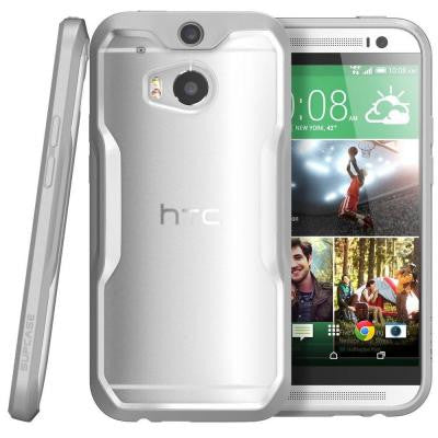 Unicorn Beetle Hybrid Bumper Case for HTC One M8 - Clear/Gray