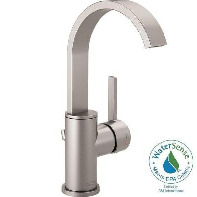Mandolin 4 in. Single-Handle Bathroom Faucet in SpotShield Brushed Nickel