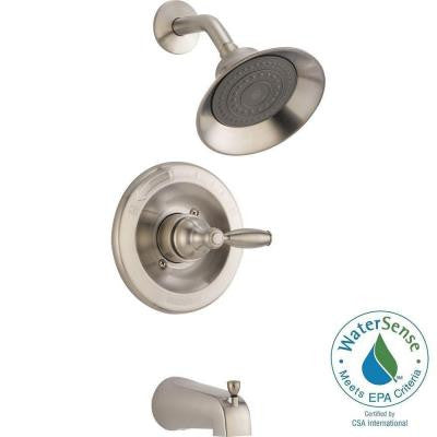 1-Handle Tub and Shower Faucet in Brushed Nickel