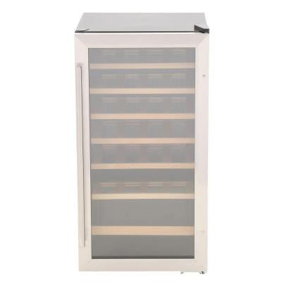 17 in. 28-Bottle Wine Cooler in Stainless Steel