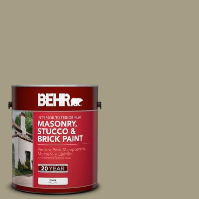 1-gal. #MS-51 Sage Moss Flat Interior/Exterior Masonry, Stucco and Brick Paint