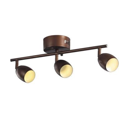 3-Light Rubbed Oil Bronze LED Track Light