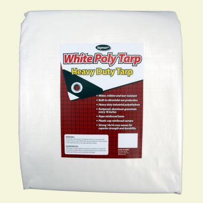 12 ft. x 20 ft. White Heavy Duty Tarp