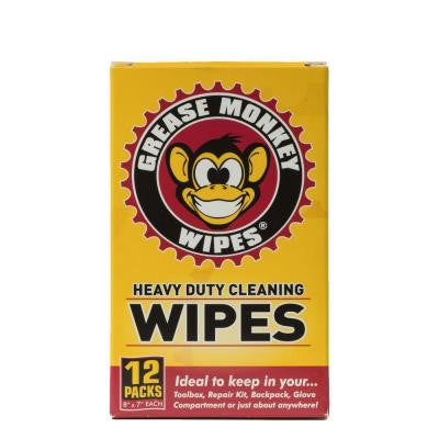 Individual Heavy-Duty Multi-Purpose Cleaning Wipes (Box of 12)