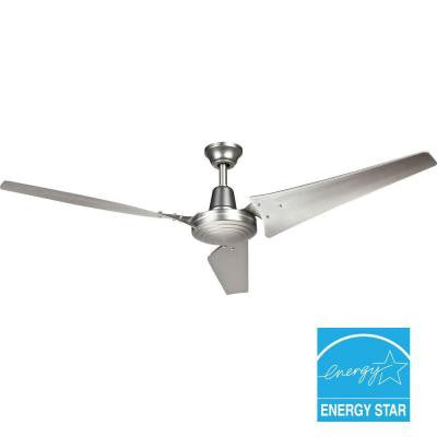 Industrial 60 in. Brushed Steel Indoor Energy Star Ceiling Fan