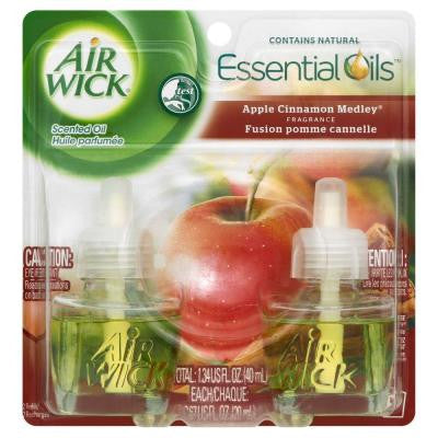0.71 oz. Apple Cinnamon Medley Scented Oil Refill (2-Pack)
