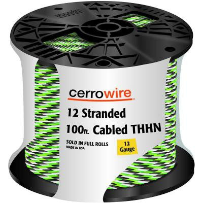100 ft. 12-3 Stranded THHN Cable