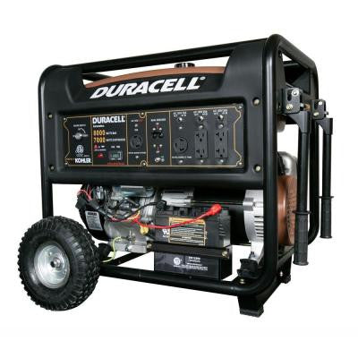 8,000-Watt Gasoline Powered Electric Start Portable Generator with 1 Kohler Engine and Recoil Backup