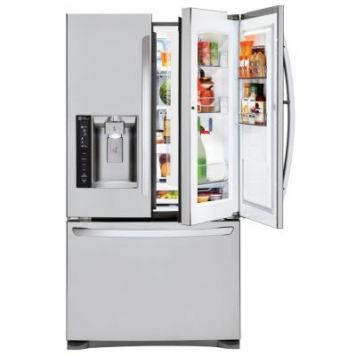 23.9 cu. ft. French Door Refrigerator in Stainless Steel with Door-In-Door Design