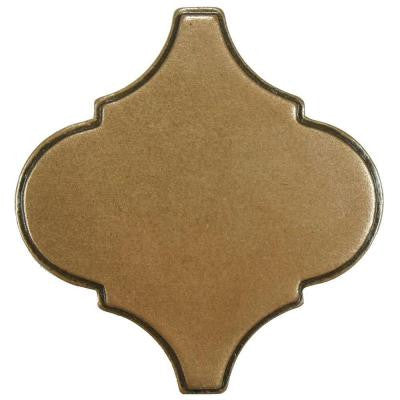 Contempo Lantern Insert Bronze 3 in. x 3 in. Metallic Wall Trim Tile
