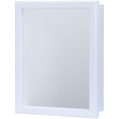 15.25 in. W x 19.25 in. H Recessed or Surface Mount Medicine Cabinet in White