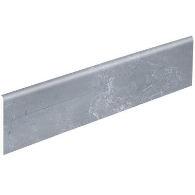 Marbre Grey S44C9 Brilliant 4-1/4 in. x 12-3/4 in. Ceramic Bullnose Wall Tile