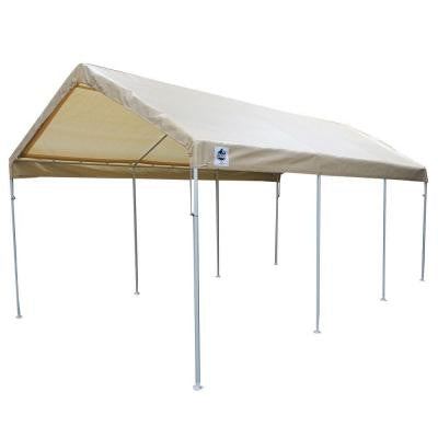 Hercules 10 ft. W x 20 ft. D Steel Canopy in Tan