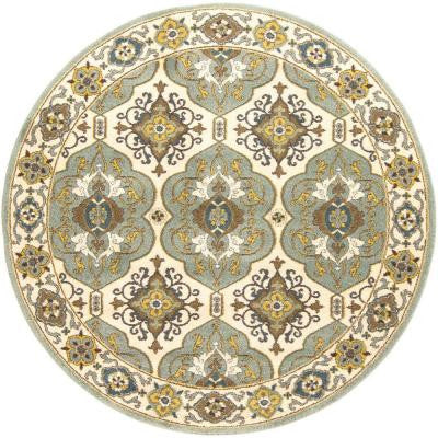 Esbern Light Gray 6 ft. 7 in. x 6 ft. 7 in. Round Indoor Area Rug