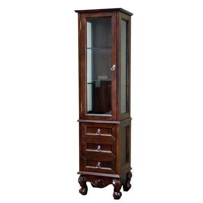 Bevington 18 in. W Linen Cabinet in Walnut