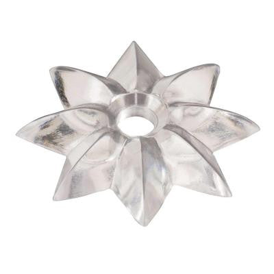 1-1/8 in. Clear Star Mirror Rosette