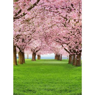 100 in. x 72 in. Cherry Trees Wall Mural