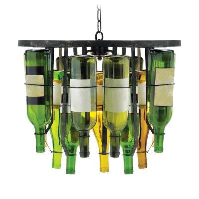 Vinum 2-Light Black Pendant Chandelier