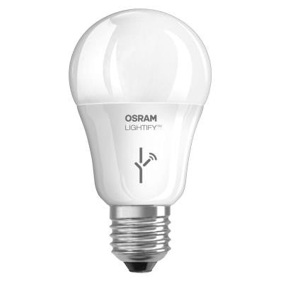 Lightify 60W Equivalent Multi-Color and Tunable White A19 Dimmable Smart LED Light Bulb