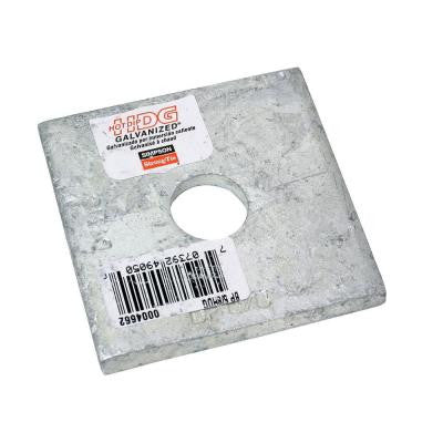 2-1/2 in. x 2-1/2 in. Hot-Dip Galvanized Bearing Plate with 5/8 in. Dia. Bolt