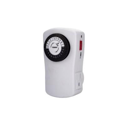 15 Amp 24-Hour Heavy Duty Mechanical Dial Timer with 2-Grounded Outlet for Lighting and Appliances