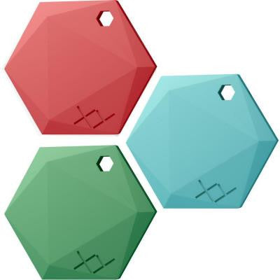 Smart Bluetooth Beacon - Bold, Ruby, Jade, Aquamarine (3-Pack)
