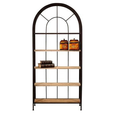 Vintage Park 36.5 in. W Rust/Painted 5-Shelf Bookcase
