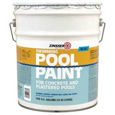 5-gal. Blue Flat Oil-Based Swimming Pool Paint