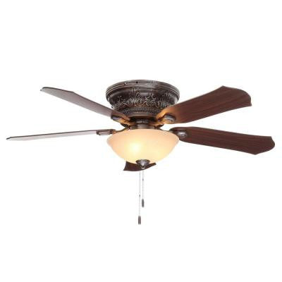Viente 52 in. Indoor Roman Bronze Flushmount Ceiling Fan