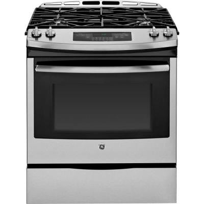 5.6 cu. ft. Slide-In Gas Range with Self-Cleaning Oven in Stainless Steel