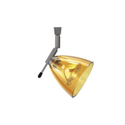 Mini-Dome I Swivel I 1-Light Bronze Amber Track Lighting Head