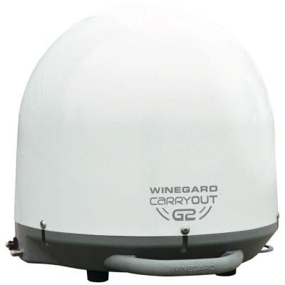 Carryout G2 Automatic Portable Satellite TV Antenna - White