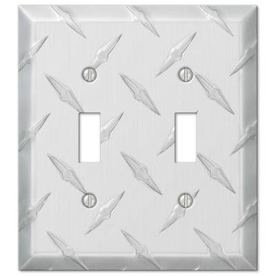 Garage 2 Toggle Wall Plate - Chrome