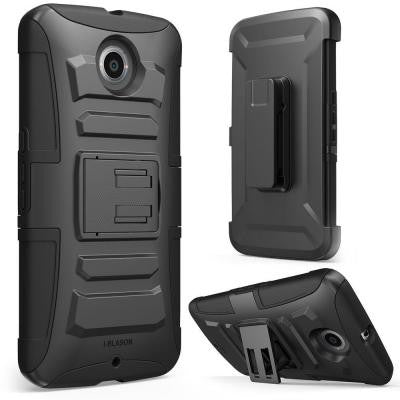 Prime Dual Layer Holster Case for Google Nexus 6 - Black