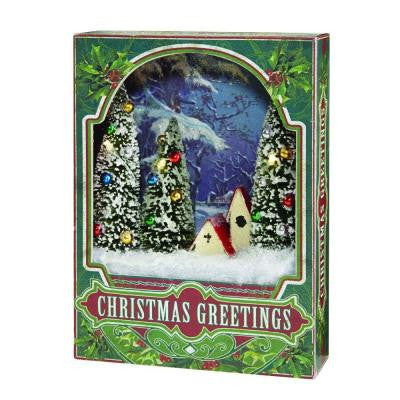 8 in. House Christmas Scene Shadowbox