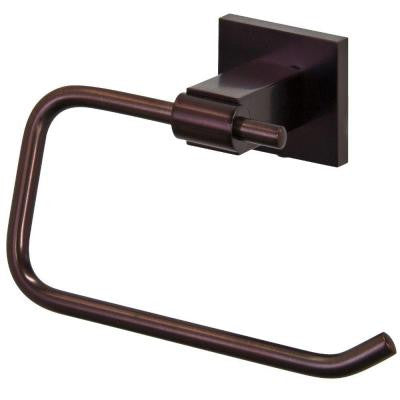 Allure Square Design Single Post Toilet Paper Holder in Oil Rubbed Bronze
