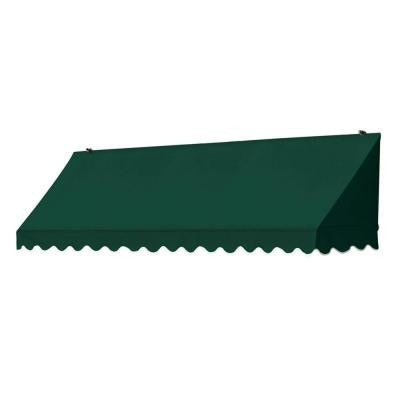 8 ft. Traditional Manually Retractable Awning (Projection 26.5 in.) in Forest Green