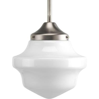 Schoolhouse Collection 1-Light Brushed Nickel Mini Pendant