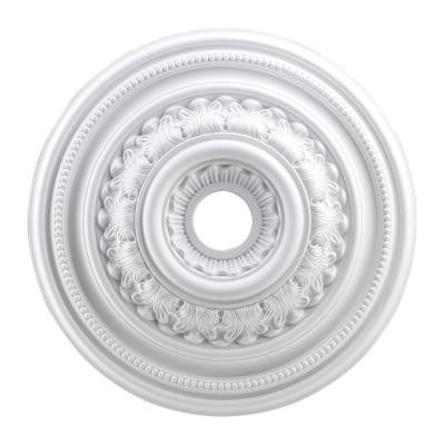 English Study 24 in. White Ceiling Medallion