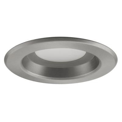 Nicor D-Series 4 in. 4000K Nickel Dimmable LED Recessed Retrofit Kit